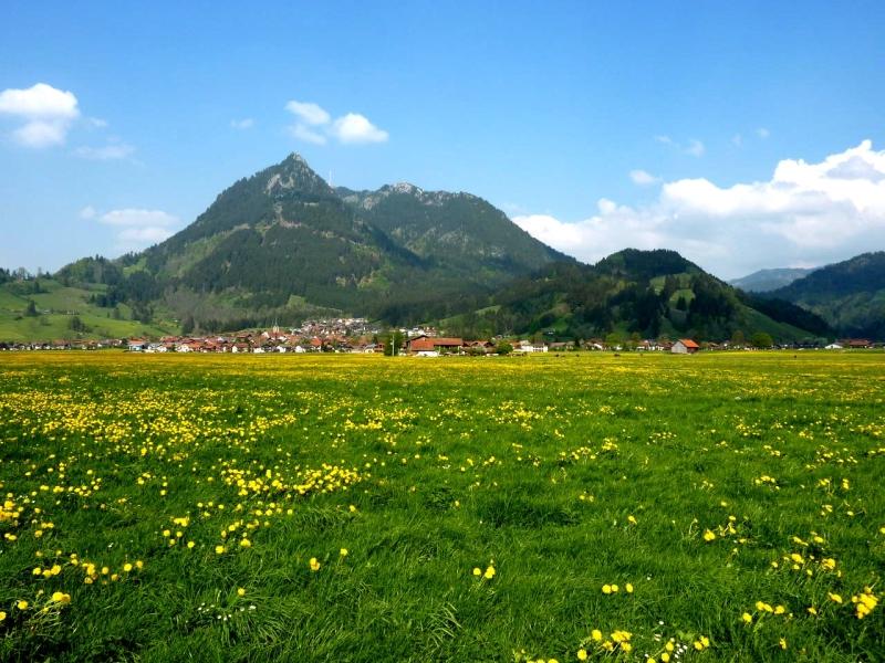 Burgberg bei Sonthofen in der Region Allgäu