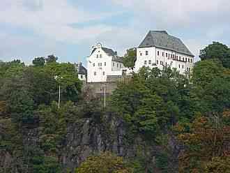Wolkenstein in der Region Erzgebirge